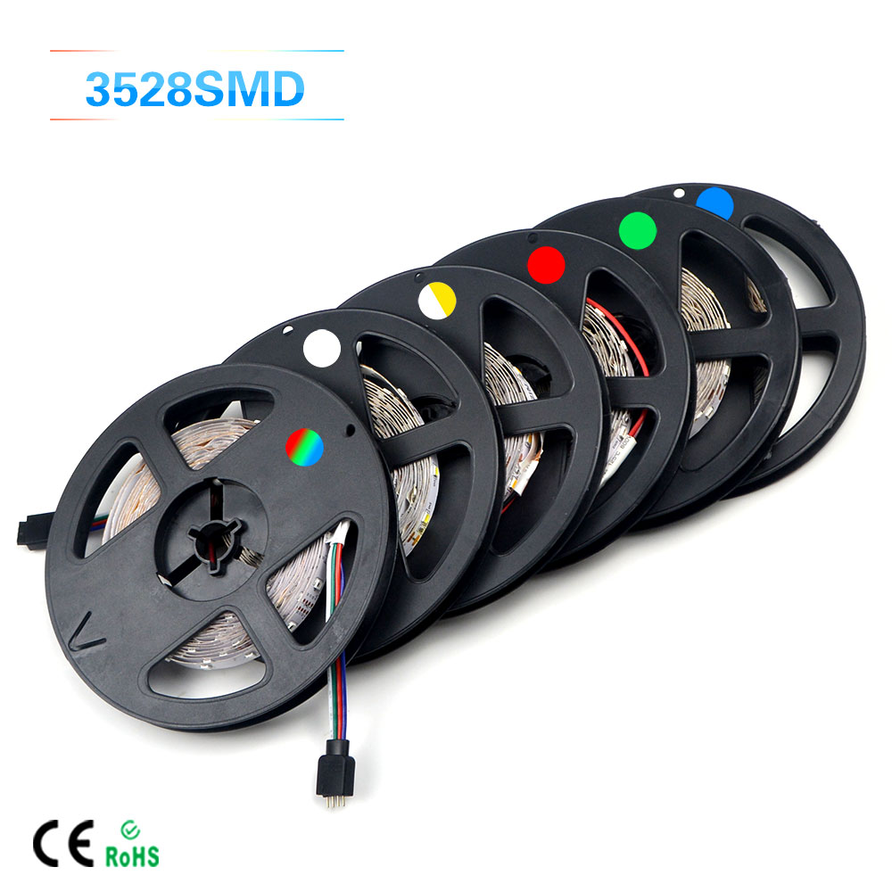 1Pack Upgrade More Brighter Than Old 3528 SMD RGB Flexible LED Strip light 300 LEDs / 5M String lighting Decoration lamp Tape(China (Mainland))