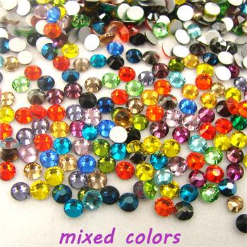 Shiny Glitter Mixed Colors ss3-ss30 3D non-hotfix Flatback Rhinestones For Nail Art Decorations DIY.