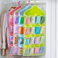 16 pocket clear shoe rack door hanging package hanger storage organizers(China (Mainland))