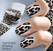 Fashion Leopard pattern Decoration Nail Art Decals Art Transfer Foil Nail Sticker Tip Decoration Easy