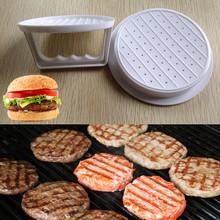 DIY White Plastic Hamburger Meat Beef Grill Burger Press Patty Maker Mold Mould Kitchen Stufz Machine Patties Eco friendly Mold(China (Mainland))
