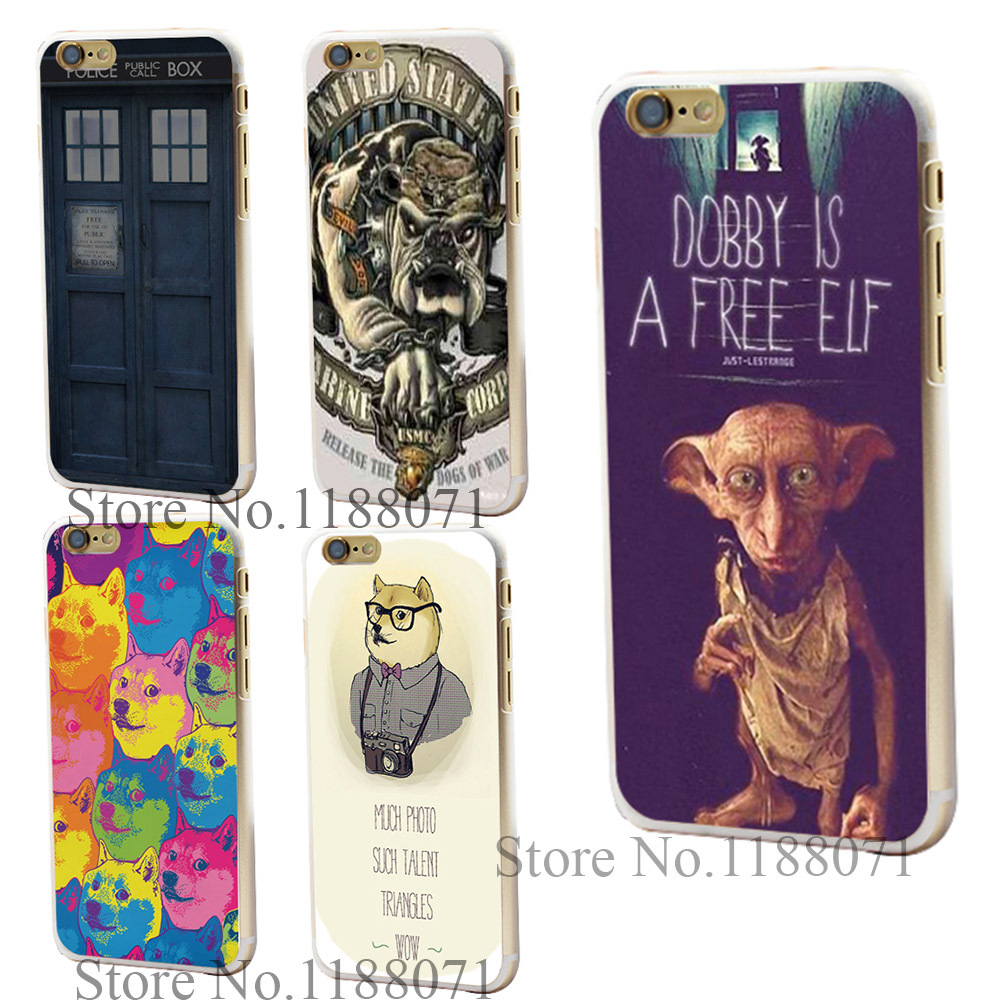 hARD cLEAR cOVER tRANSPARENT cASE FOR IpHONE 6 6S 6G 6 PLUS dobby is a free elf sTYLE(China (Mainland))