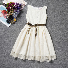 Fancy Lace Children Clothing Girl Baby Birthday Outfits Little Bridesmaid Dresses Girls Frocks Teenage Girls Clothes 4~10 Years(China (Mainland))
