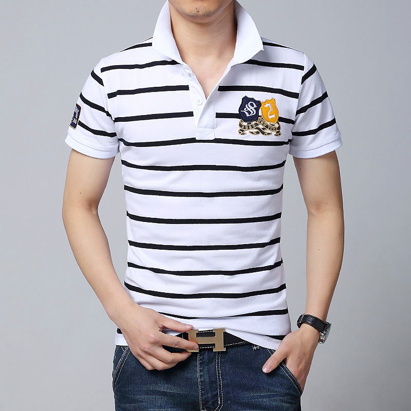 Summer new business polo shirt mens 2015 new fashion high for Wholesale polo style shirts