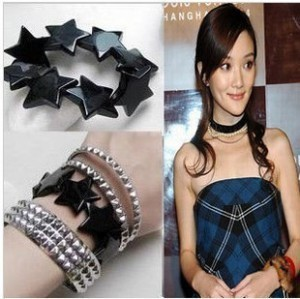 Sunshine fashion Avril five-pointed star bracelet  for women