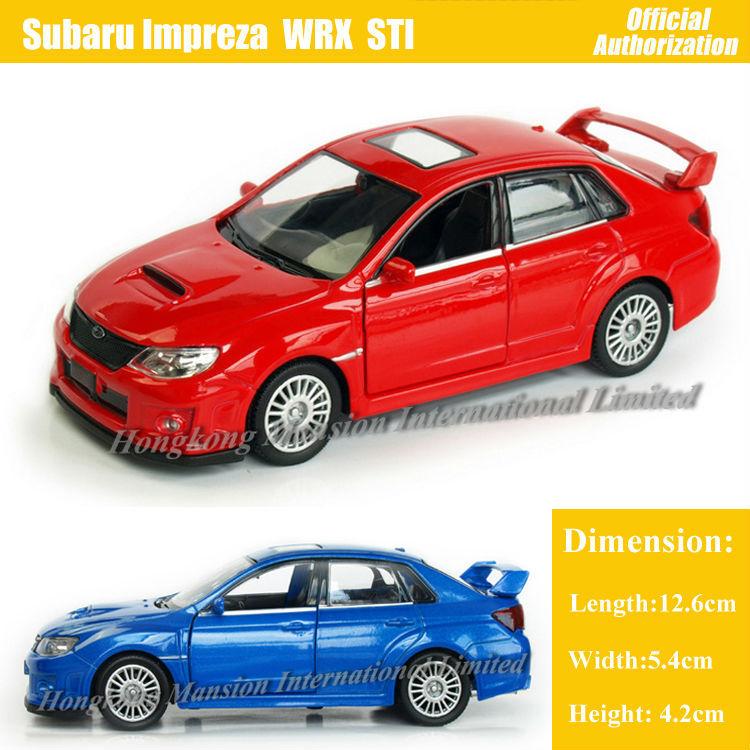 36 scale diecast alloy metal car model for subaru impreza wrx sti