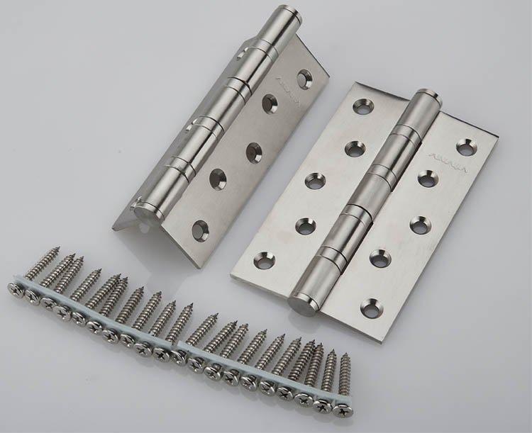 5''X5''X3mm Stainless Steel Brush Nickel Door Hinges Heavy Duty Hinges New(China (Mainland))