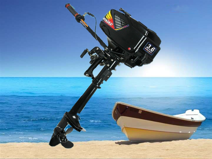 2015 New Design Best Quality 2-stroke 3.6HP HANGKAI outboard motor boat engine water cooled (3.6 HP 2T)(China (Mainland))