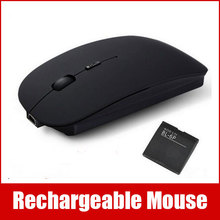 2.4GHZ USB Rechargeable Computer Wireless Mouse With Battery And Charging Cable For PC Laptop(China (Mainland))