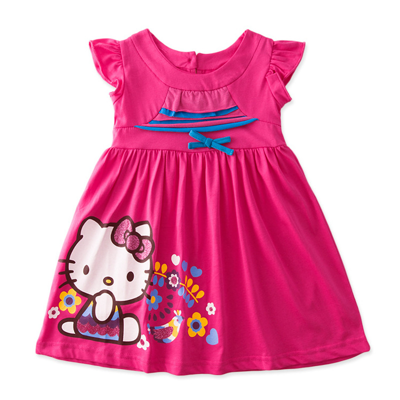 2015 New Summer Toddler Baby Girl Red Hello Kitty Dress Kids Clothes Clothing Beautiful For ...