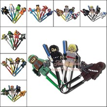 Hot Best for Students' Gifts 4PCS/SET Lego Star Wars Cartoon Bookmarks,PVC Paper Clips,Magazine Label Reading Office Supplies(China (Mainland))