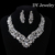 2016 Top quality Luxuious Crystal Wedding jewelry sets Shiny Silver Alloy Jewelry set for bride Wedding dress accessories