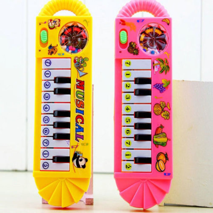 1Pc Baby Kids Infant Child Sweet Plastic Piano Musical Developmental Toy Fancy Toy Random Color(China (Mainland))