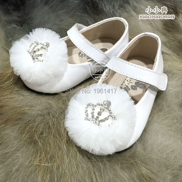 2016 Kids Net Yarn Imperial Crown Baby Dress Shoes Factory Price Direct Selling  -  My Handmade store