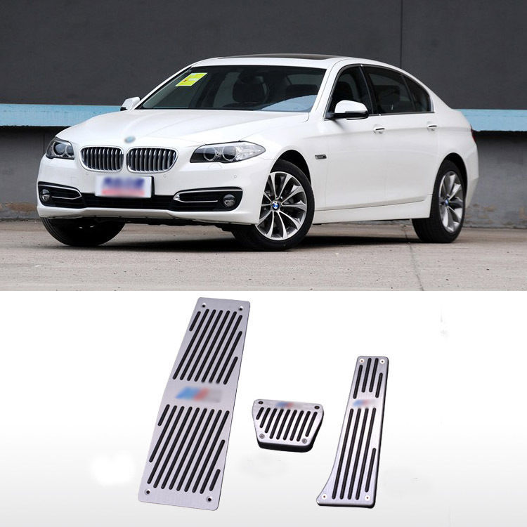 3pcs Superb Sports Grade No need Drill Alloy Pedal Pads Covers For BMW E60 AT<br><br>Aliexpress