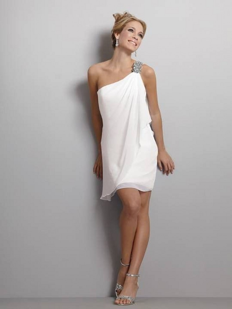 Plus Size Short White Party Dress 2