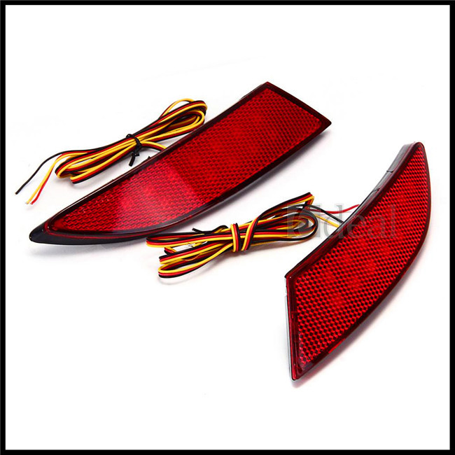 2x Red 13 LED Rear Bumper Light Lamp Bulb Reflector for Focus 2012-2013(China (Mainland))