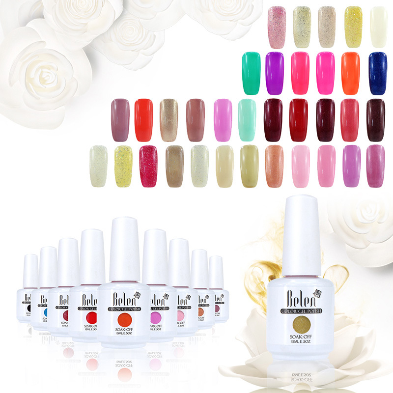 Belen 15 ML Candy Color 3D Nail Polish Top Quality Fashion Soak Off Nail Gel 498 Colors Avaliable(China (Mainland))