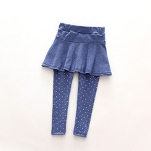 New Baby Kid Pantskirt fille laine Culotte pantalons enfants Legging pantalons robe(China (Mainland))