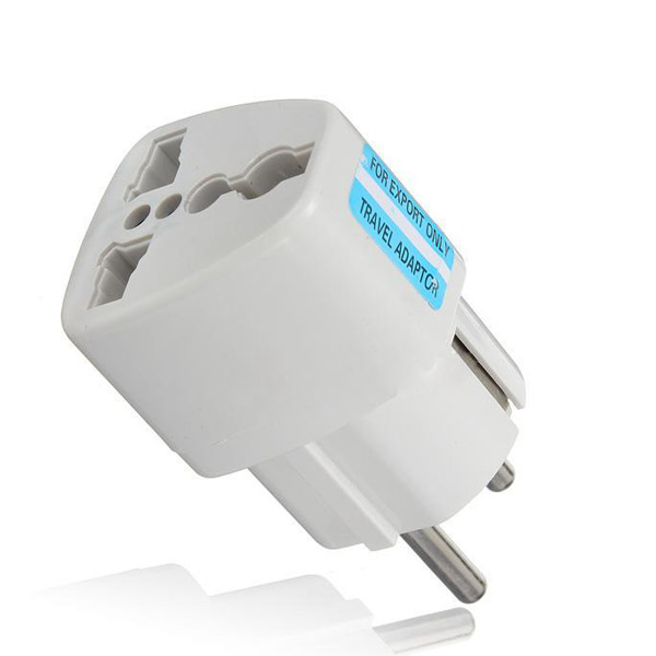 Universal Travel Adapter US AU UK to EU Plug Travel Wall AC Power Adapter 250V 10A Socket Converter White(China (Mainland))