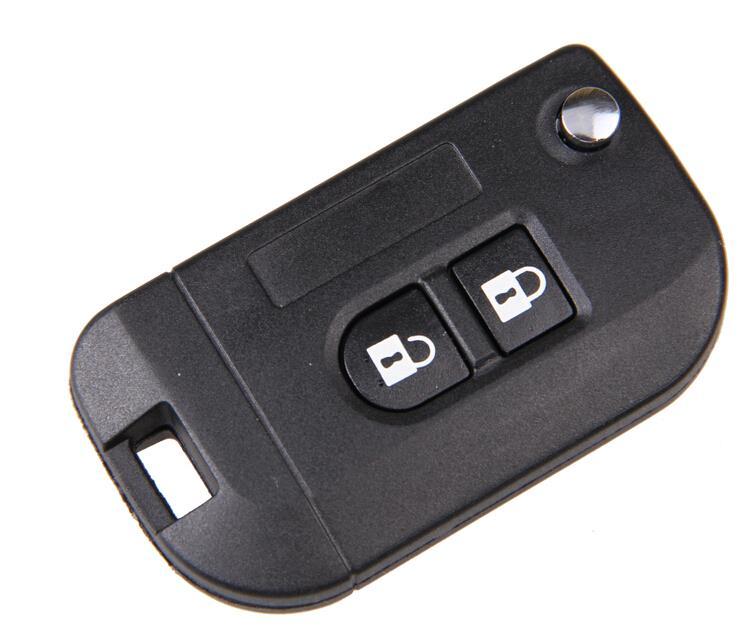 New 2 Buttons Folding Flip Remote Key Case Shell Fob For Nissan Micra K12 Note Navara Qashqai Free Shipping(China (Mainland))