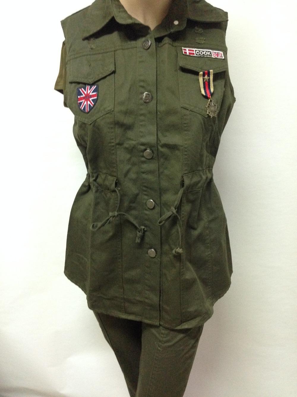 Womens Green Vest