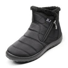 Frauen Stiefel 2019 Winter Schuhe Frau Schnee Stiefel Mit Plüsch Innen Botas Mujer Wasserdicht Plus Größe 43 Winter Stiefel Weibliche booties(China)