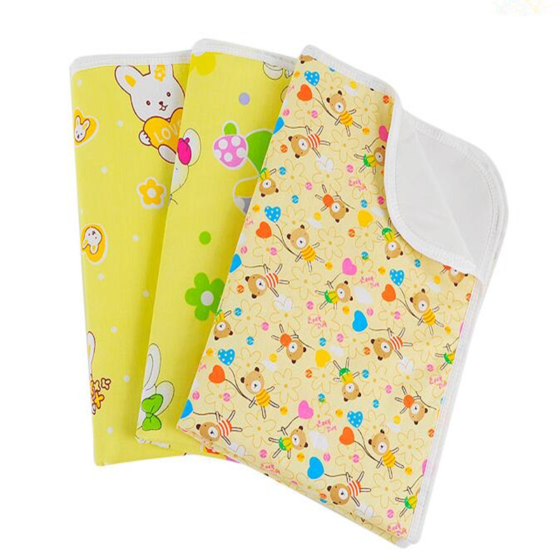 baby separates the urine mattress 100% cotton soft breathable and waterproof printed pattern L code random delivery ETRX0035(China (Mainland))
