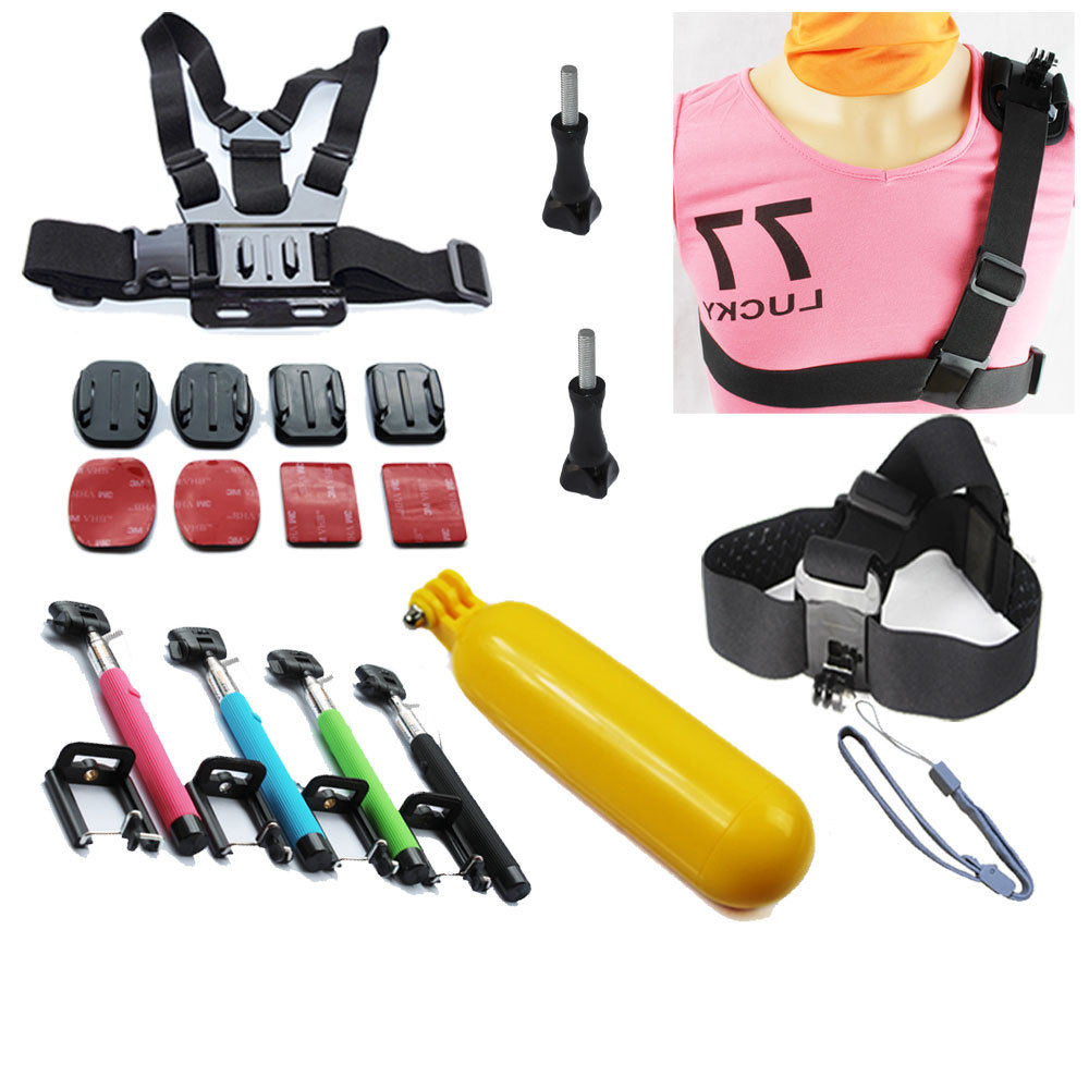 2014 New Strap Single Shoulder Strap Go Pro Mount Chest Harness Belt Adapter