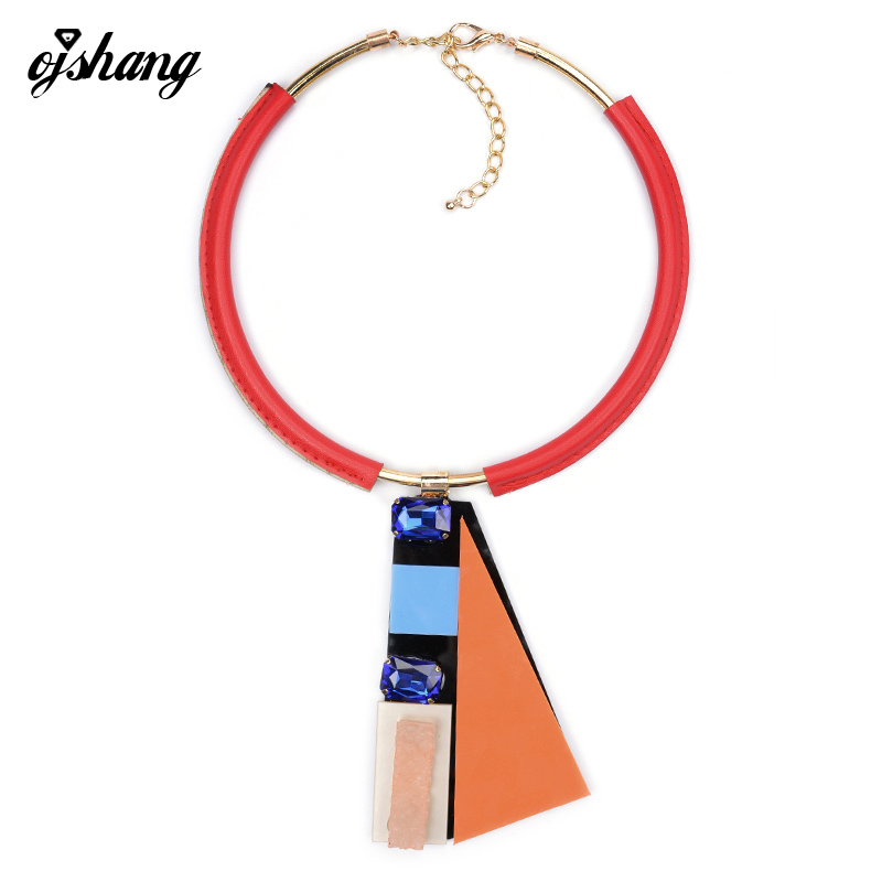 Fashion Women 2016 Jewelry Necklace Pendant Collier Femme Collar Choker Leather Chain Costume Maxi Bijoux Statement Accesory 783(China (Mainland))