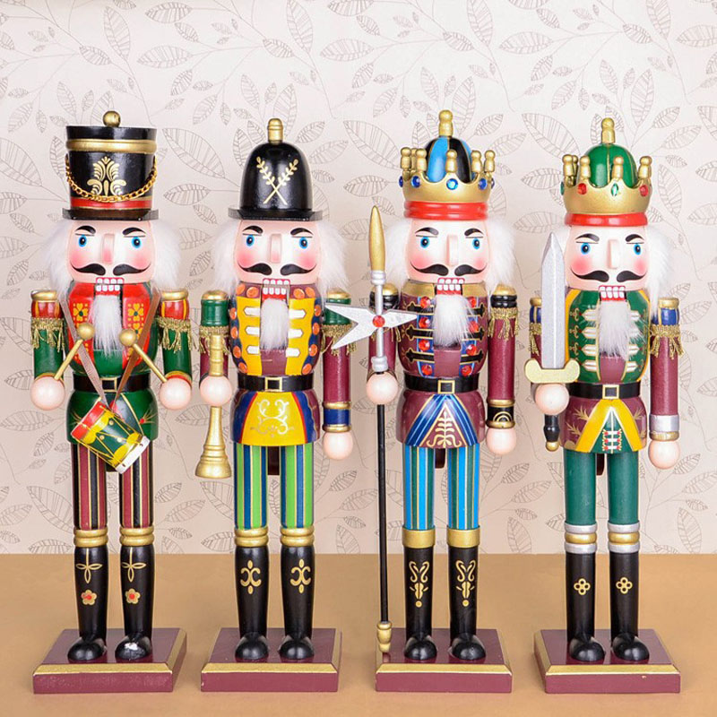 100% handmade Wooden colorful Nutcracker doll toys for shop and home decoration(China (Mainland))
