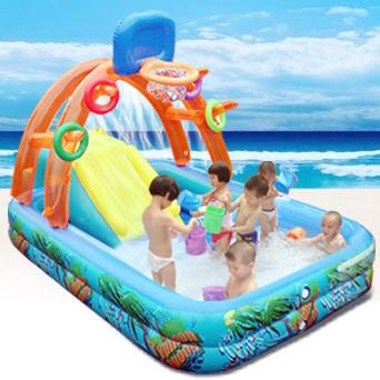 Compra tobog n hinchable para la piscina online al por for Tobogan piscina ninos