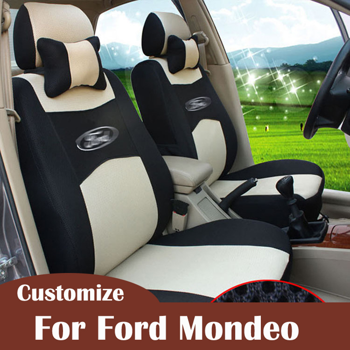 Custom seat covers for Ford Mondeo 2015 accessories car styling seat cover sandwich seats cuhion car-covers headrest pillow set(China (Mainland))