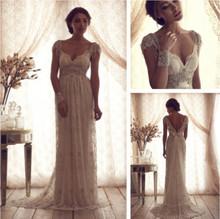 Unique Style Backless Lace Princess Sofia Bridal Gown Floor Length Special Occasion Dresses For Wedding Robe De Soiree 2016(China (Mainland))