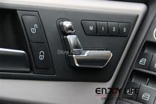 6 шт. хром регулировка сиденья переключатель для Mercedes Benz W204 W205 W212 W218 X204 X166 ces GLK GL ML класс GL450