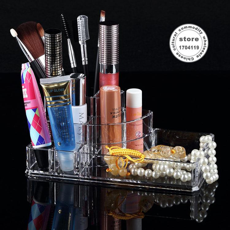 chef basket makeup organizer storage box transparent crystal cosmetic box perfume lipstick holder jewelry storage box(Bulgaria)