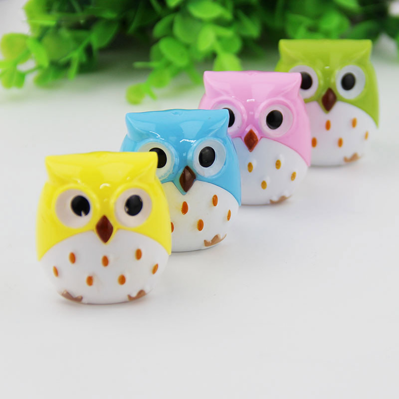 1 X Random Color Mini Kawaii Funny Owl Pencil Sharpener Cutter Knife School Student Stationery Supplies(China (Mainland))