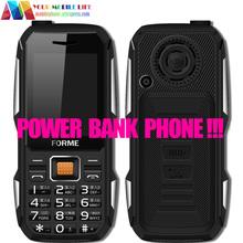 Банк силы Мобильного Телефона! Оригинальный FORME D111 Водонепроницаемая Пыле Противоударный 5800 мАч Батареи Quad Бренд Две СИМ-Карты Мобильного телефоны(China (Mainland))