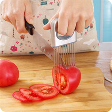 Easy Onion Holder Slicer Vegetable Fruit Tools Clever Cutter Stainless Steel Kitchen Cooking Tools Kitchen Accessories