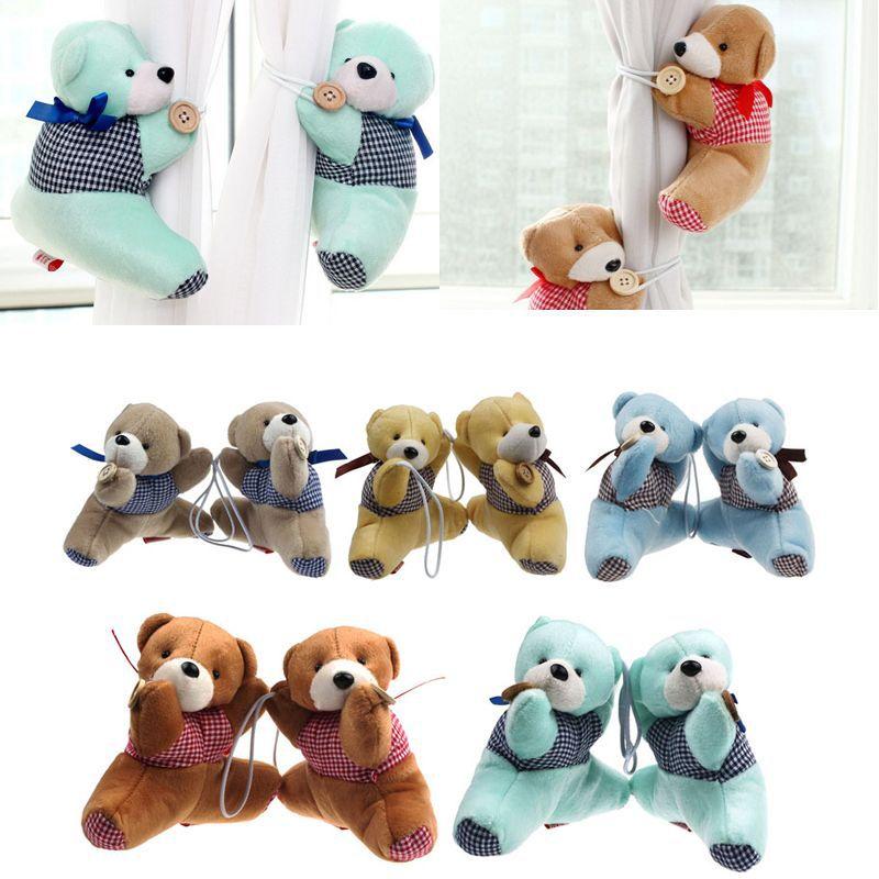 1 Pair Baby Kid Cartoon Bear Holder Nursery Bedroom Curtain Tieback Buckle Hook 5 Colors Free Shipping&Wholesales(China (Mainland))