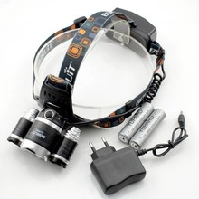 BIG SALE! 3*XM-L2 Headlight Headlamp+2*4200mAh 18650 battery+Charger, 3xCREE XM-L2 super T6 LED USB Power 6000 Lumens bank