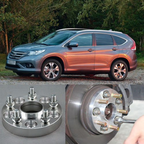 Фотография 4pcs New Billet 5 Lug 12*1.5 Studs Wheel Spacers Adapters For Honda CRV 2007-2013