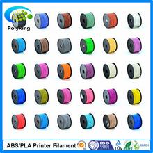 Full colors 3d printer filaments ABS/PLA 1.75mm/3mm Plastic Rubber Consumables Material MakerBot/RepRap/UP/Mendel 1KG