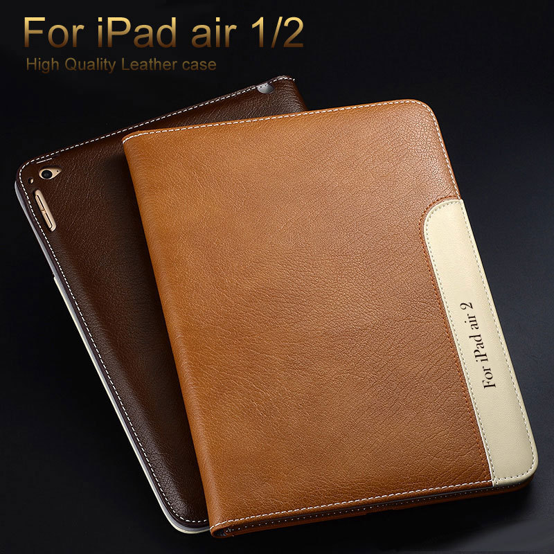 New arrive Fashion Design Travel PU Leather Flip Cover For Apple iPad Air 1 2 Case with Wallet Pocket and Card Holder Place(China (Mainland))