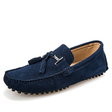 New colors Genuine Leather men flat shoes Brand Moccasins men loafers driving Peas Shoes Fashion Casual