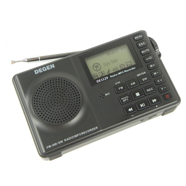 FM MW SW 4GB Portable Intelligent Multifunctional LED STEREO Radio DSP Receiver MP3 Player 3 Bands