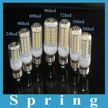 E27 110V 220V Led Light 24 36 48 56 69 72 96eds 5730 SMD Corn Bulb lampada led Lamps SpotLight Candle Light CE ROHS Lighting