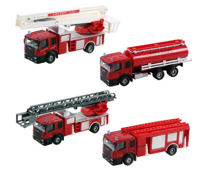 EducationalToys For Children Fire Truck Boy Toys Cool Toy For Children Fire Truck Model Taxied Toy Free Shipping(China (Mainland))