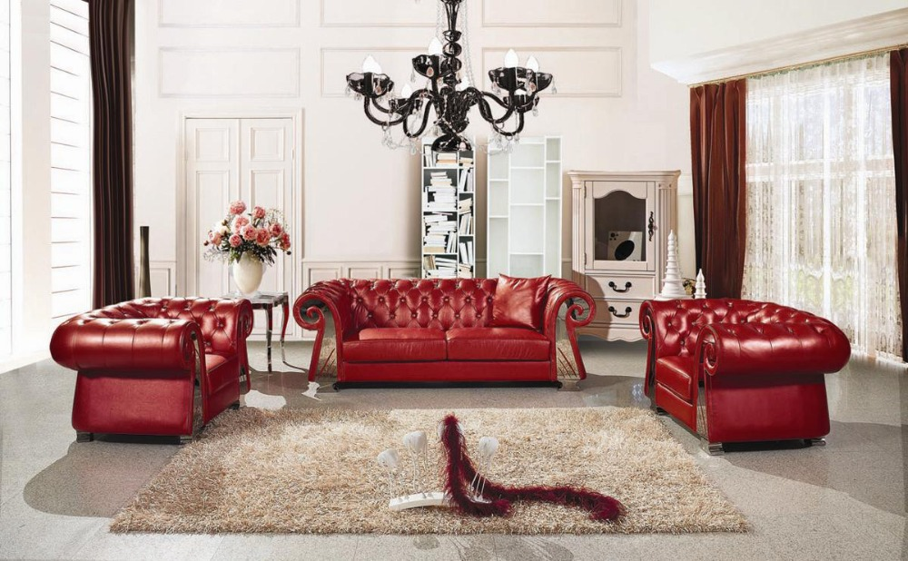 European Style Luxury Villa Living Room Sofa Sofa Leather Sofa Fabric French