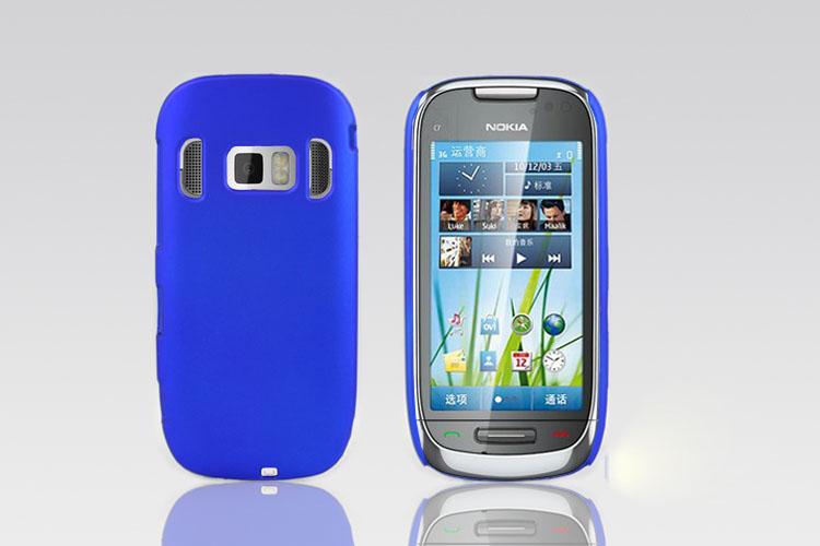 Matte Rubberized Anti-skid Style Phone Case For Nokia C7 Case(China (Mainland))